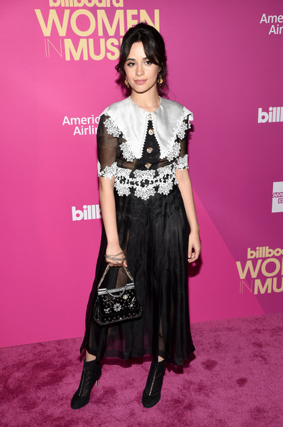 Camila Cabello Beaded Purse [red carpet,clothing,fashion model,fashion,shoulder,pink,dress,red carpet,premiere,carpet,waist,camila cabello,hollywood highland center,ray dolby ballroom,california,billboard women in music]