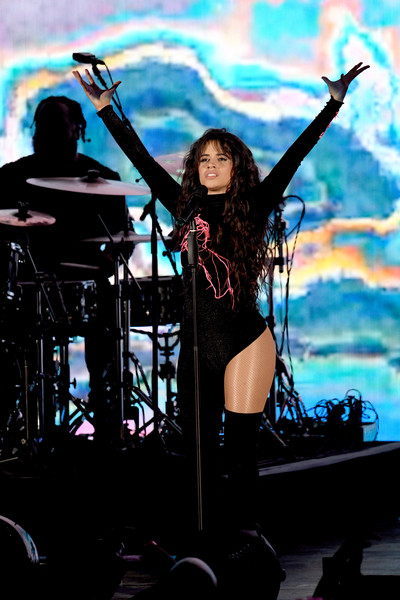 Camila Cabello Bodysuit [performance,entertainment,music artist,performing arts,stage,musician,rock concert,concert,singer,music,camila cabello,billie eilish,becky g,jonas brothers,lizzo,marshmello,we can survive,radio.com presents,taylor swift,the hollywood bowl]