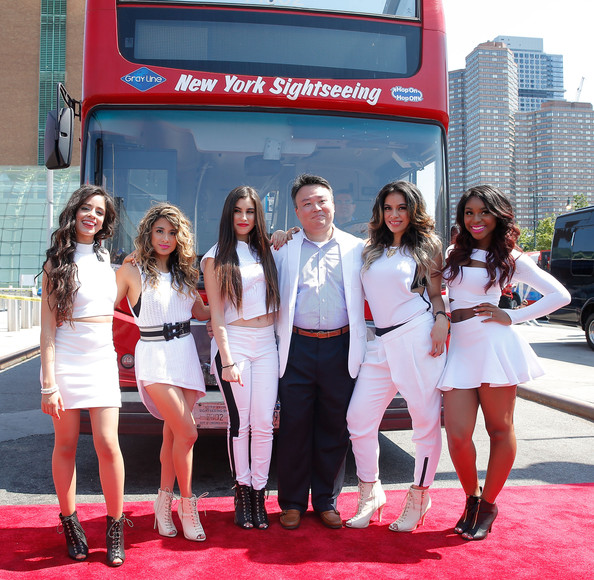 Camila Cabello Crop Top [david w. chien,dinah hansen,normani hamilton,singers,camila cabello,ally brooke,fifth harmony honored by ride of fame,l-r,ride of fame,red,lady,event,premiere,red carpet,vehicle,luxury vehicle,car,carpet,tourism,fifth harmony]