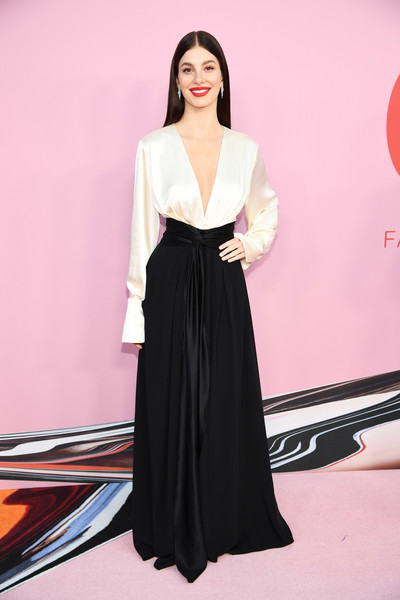Camila Morrone Evening Dress [clothing,shoulder,black,dress,fashion,pink,fashion model,leg,neck,joint,arrivals,camila morrone,cfda fashion awards,brooklyn museum of art,new york city]