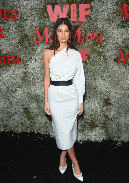 Camila Morrone Pumps [instyle max mara women in film celebration,max mara women in film celebration,camila morrone,clothing,dress,shoulder,fashion,fashion model,cocktail dress,premiere,joint,waist,lip,chateau marmont,los angeles,california,instyle]
