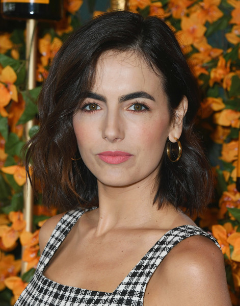 Camilla Belle Pink Lipstick [hair,face,hairstyle,beauty,lip,eyebrow,chin,long hair,black hair,brown hair,arrivals,camilla belle,los angeles,pacific palisades,california,will rogers state historic park,veuve clicquot polo classic]