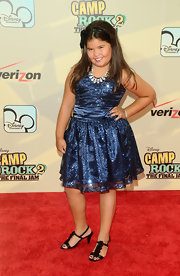 Madison attended the 'Camp Rock 2' premiere in a dazzling blue dress.