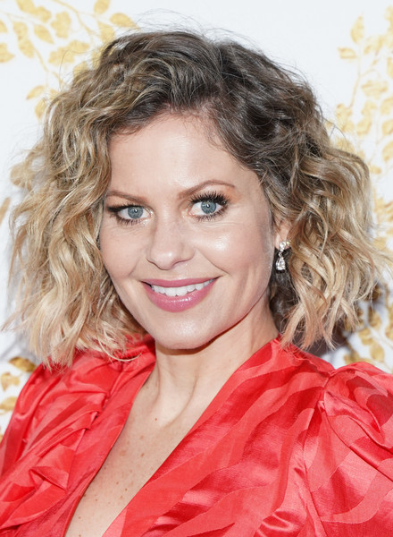 Candace Cameron Bure Curled Out Bob [hallmark movies and mysteries - arrivals,hair,hairstyle,face,blond,ringlet,eyebrow,chin,lip,beauty,lady,candace cameron bure,pasadena,california,tournament house,hallmark channel,winter tca tour,hallmark movies and mysteries 2019 winter tca tour]