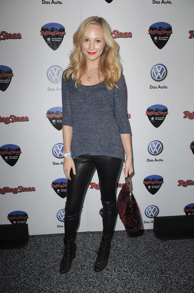 Candice Accola Lace Up Boots