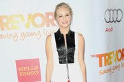 Candice Accola Leather Pants