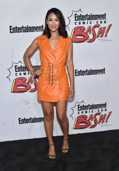 Candice Patton Leather Dress