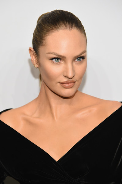 Candice Swanepoel Long Braided Hairstyle [hair,face,shoulder,eyebrow,skin,hairstyle,lip,beauty,chin,neck,arrivals,cindy crawford,candice swanepoel host angels,candice swanepoel,russell james,angels,stephan weiss studio,russell james book launch and exhibit,exhibit,book launch]