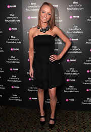 MTV's Maci Bookout  struck a demure pose in a strapless LBD at The Candie's Foundation Event to Prevent. The teen mom completed her chic transformation with sweet mary jane pumps and a statement necklace.