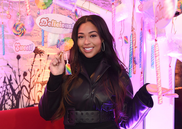 More Pics of Jordyn Woods Leather Jacket (1 of 2) - Outerwear Lookbook - StyleBistro [valentines day,candy crush friends saga ``sweet n solo,pink,purple,skin,beauty,lady,smile,fun,magenta,event,happy,jordyn woods,candy crush friends ``sweet n solo,valentines day dining experience,new york city,dirt candy,dinner event]