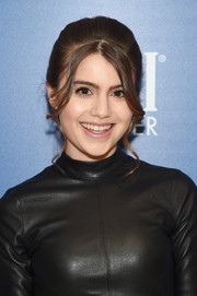 Sami Gayle gave us retro vibes with this updo at the special screening of 'Captain Marvel.'