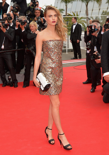 Cara Delevingne Strapless Dress