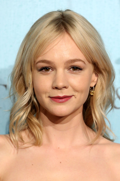 Carey Mulligan Medium Wavy Cut with Bangs