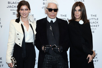 Carine Roitfeld Karl Lagerfeld CHANEL The Little Black Jacket - Exhibition Opening