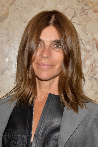 Carine Roitfeld Medium Layered Cut [hair,hairstyle,layered hair,brown hair,blond,eyebrow,chin,long hair,surfer hair,hair coloring,frida giannini,editor in chief,carine roitfeld,new york city,gucci,french vogue,gucci beauty launch event,beauty launch event]