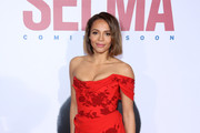 Carmen Ejogo Off-the-Shoulder Dress