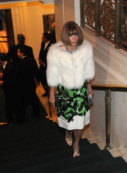 More Pics of Anna Wintour Fur Coat (1 of 3) - Anna Wintour Lookbook - StyleBistro