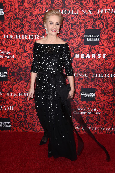 Carolina Herrera Off-the-Shoulder Dress [carolina herrera,an evening honoring carolina herrera,red carpet,dress,carpet,clothing,premiere,red,flooring,fashion,gown,haute couture,alice tully hall,new york city,lincoln center]