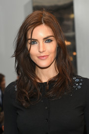 Hilary Rhoda looked oh-so-pretty with her face-framing waves at the Carolina Herrera fashion show.