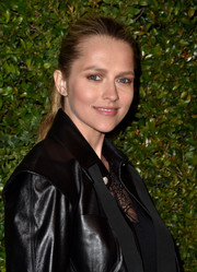 Teresa Palmer went for a casual ponytail when she attended the celebration of Chanel's Gabrielle bag.