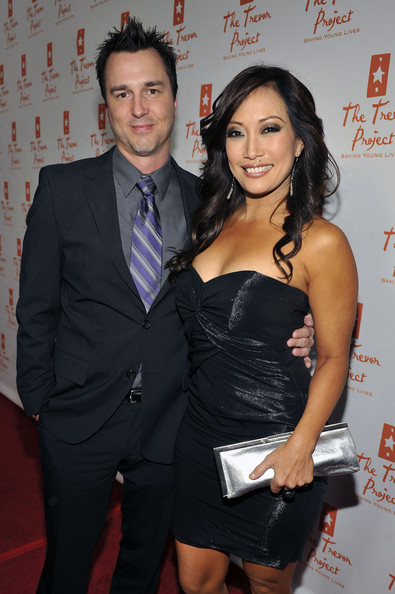 Carrie Ann Inaba Metallic Clutch