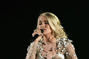 Carrie Underwood Embroidered Dress