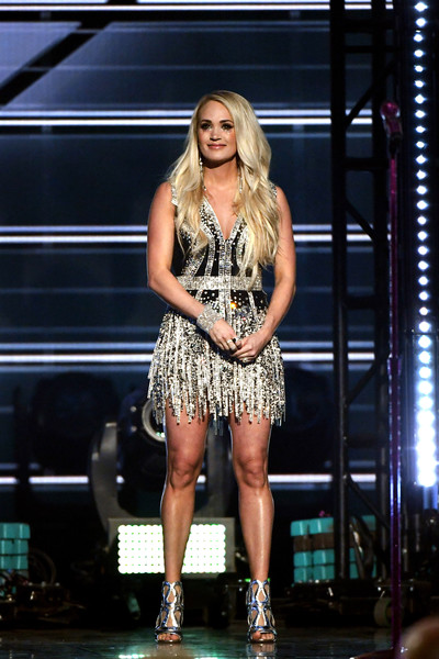 Carrie Underwood Gladiator Heels [fashion model,performance,catwalk,fashion show,fashion,runway,music artist,stage,thigh,muscle,las vegas,nevada,mgm grand garden arena,academy of country music awards,show,carrie underwood]