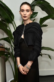 Rooney Mara got blinged up with a gorgeous diamond bracelet on each wrist for the Cartier Fifth Avenue grand reopening.