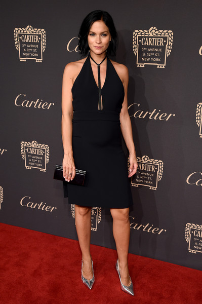 Leigh Lezark styled her frock with pointy silver pumps.