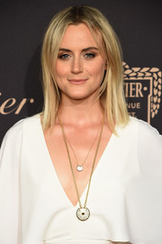 Taylor Schilling opted for a fuss-free shoulder-length 'do when she attended the Cartier Fifth Avenue grand reopening.