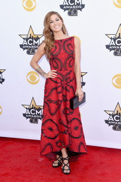 Cassadee Pope Strappy Sandals [red carpet,carpet,clothing,dress,fashion model,shoulder,red,flooring,fashion,premiere,arrivals,cassadee pope,arlington,texas,at t stadium,academy of country music awards]