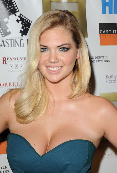 More Pics of Kate Upton Strapless Dress (1 of 8) - Kate Upton Lookbook - StyleBistro