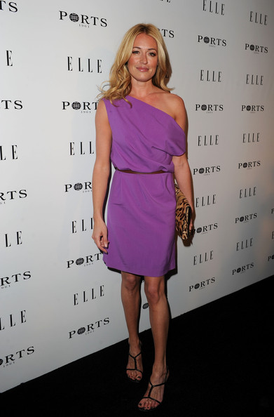 Cat Deeley Off-the-Shoulder Dress