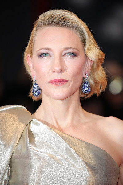 Cate Blanchett Short Wavy Cut [suspiria,hair,face,hairstyle,eyebrow,blond,lip,beauty,skin,chin,shoulder,cate blanchett,sala grande,red carpet,venice,italy,suspiria red carpet arrivals,venice film festival,screening]