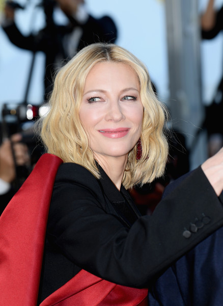 Cate Blanchett Medium Wavy Cut [the man who killed don quixote,hair,face,blond,hairstyle,beauty,lip,lady,premiere,long hair,fashion,red carpet arrivals,cate blanchett,screening,cannes,france,closing ceremony,cannes film festival,palais des festivals]