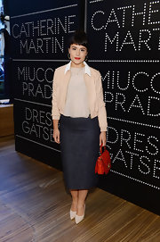Jessie Ware rocked a long denim skirt at the Catherine Martin and Miucci Prada event in NYC.