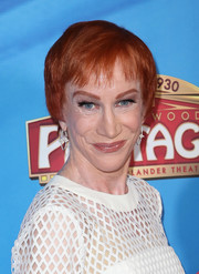 Kathy Griffin sported a short cut with wispy bangs at the celebration of 'On Your Feet!'