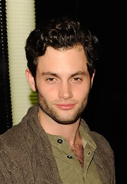 Penn Badgley looked as handsome as ever in a shor curly 'do at The Duracell Mobile Smart Power Lab.