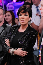 Kris Jenner donned a cluster of bangles, which were spotted on daughter Kim just a few days ago.