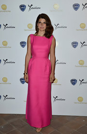 Marisa Tomei's pink evening dress at the 2013 Taormina Filmfest was so elegant in its simplicity.