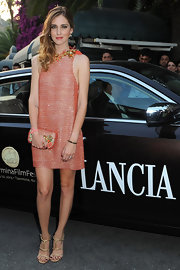 Chiara Ferragni's gold strappy sandals were a super-sexy finish to her look during the 2013 Taormina Filmfest.