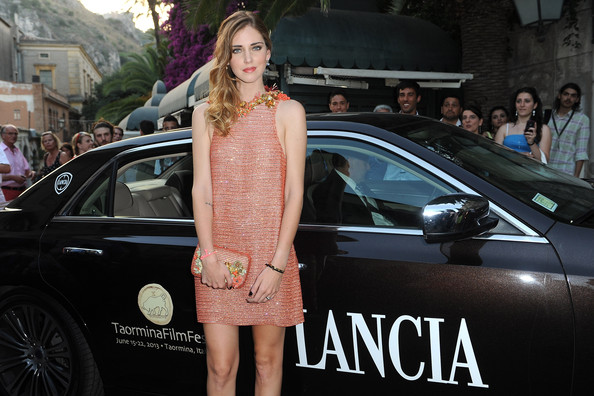 More Pics of Chiara Ferragni Side Sweep (1 of 9) - Chiara Ferragni Lookbook - StyleBistro [celebrities,chiara ferragni,luxury vehicle,street fashion,vehicle,car,fashion,beauty,automotive design,lady,personal luxury car,model,lancia cafe,taormina,italy,taormina filmfest]