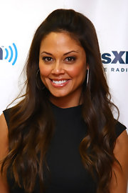Vanessa Lachey opted for a simple half-up, half-down hairstyle when visiting SiriusXM Studios.