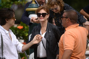 Susan Sarandon accessorized with a pair of cateye sunglasses for a day out during the Venice Film Festival.