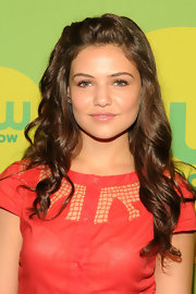 Danielle Campbell rocked a nude lip at the CW Upfront Event in NYC.