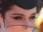 Coco Rocha looked dramatic with her cat-eye makeup during Melbourne Cup Day.