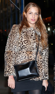 Charlotte Ronson channeled some old-school glamour with this leopard print fur coat.