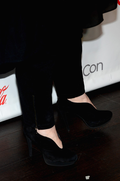 Melissa McCarthy rocked a pair of modern ankle booties at CinemaCon.