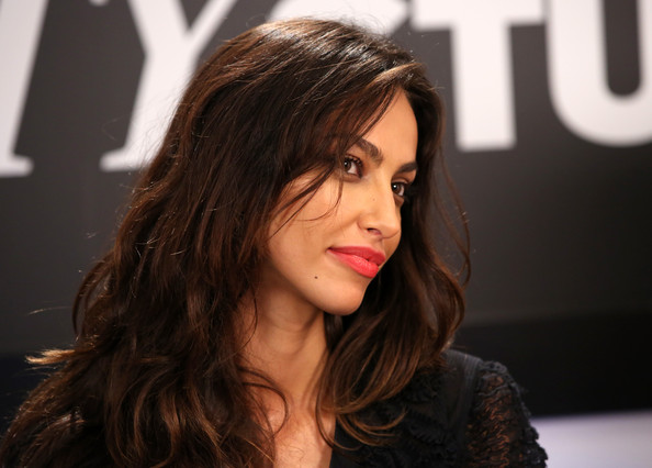 More Pics of Madalina Diana Ghenea Bright Lipstick (1 of 17) - Bright Lipstick Lookbook - StyleBistro