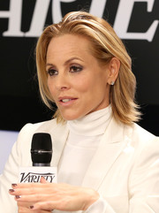 Maria Bello wore an edgy-chic layered 'do during her visit to the Variety Studio.